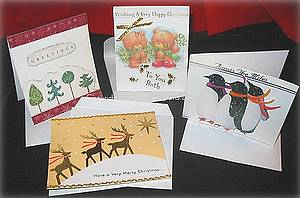 recycled Christmas cards
