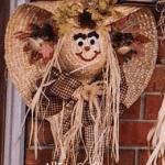 Happy Hat Scarecrow Wreath