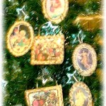 Victorian Icing Cards Ornaments