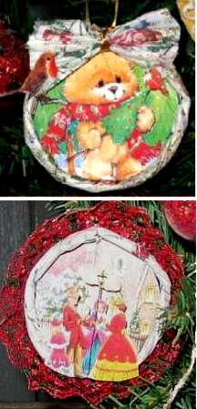 recycled juice lid ornaments