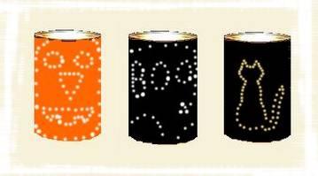 tin can Halloween lights