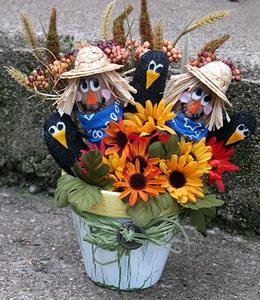 scarecrows in a pot