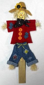 paint stick scarecrow