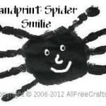 Handprint Spider Smilies