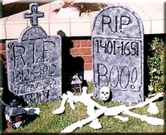 styrofoam tombstones