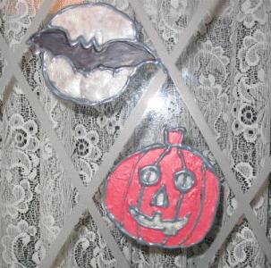 halloween window decals