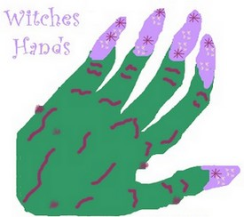 hand print witch hand