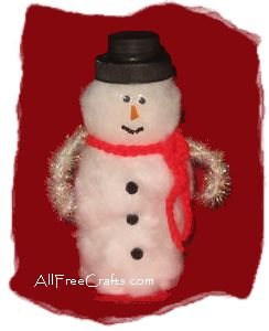 Pill Bottle Snowman All Free Crafts