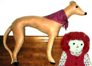 stuffed greyhound