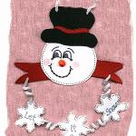 Craft Foam Snowman Hanger