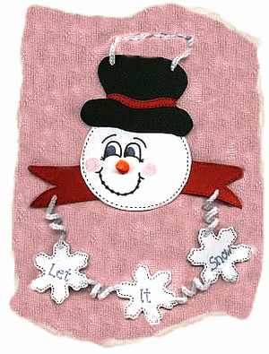 let it snow craft foam hanger