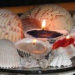 seashell tea candles