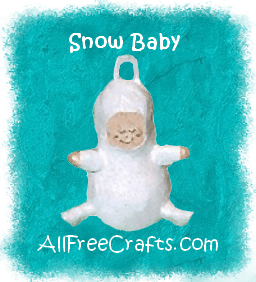 snow baby light bulb