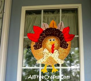 turkey craft on a hat