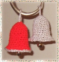 crocheted christmas bells