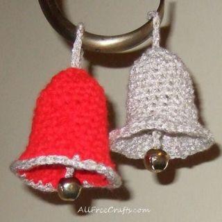 crocheted Christmas bells