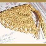 crocheted corner bookmark