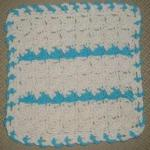 dancing shells washcloth