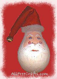 light bulb santa