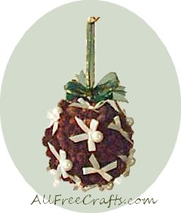 pine cone kissing ball