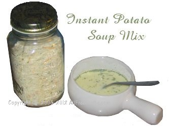 instant potato soup in a jar