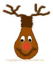 Rudolf recycled lightbulb