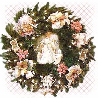victorian ornaments wreath