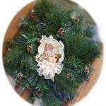 victorian doll wreath