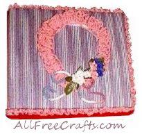 yarn covered photo album