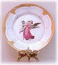 decoupage angel plate