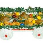 Egg carton candy wagon
