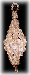 crystal swirl ornament