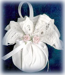 doily wrapped ornament