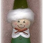 clay pot elf ornament