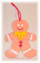 homemade craft foam gingerbread man