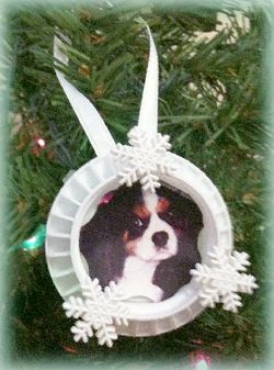 bottle cap photo ornament