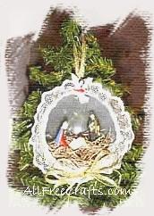 plastic ball manger ornament