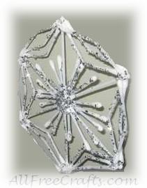 cotton swab snowflakes