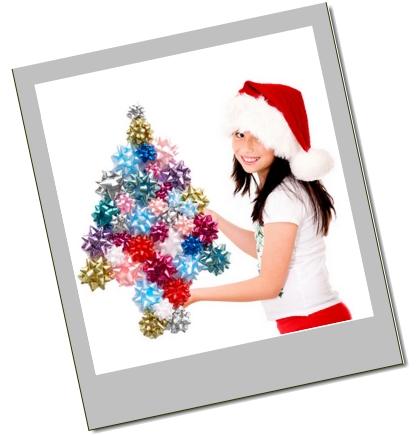 Christmas bows tree