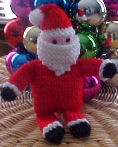 knitted santa pattern