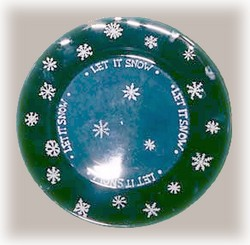 snowy charger plate