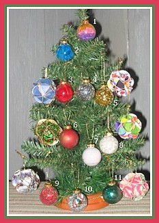 glass ball ornaments on tree