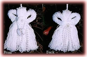 winter white tassel angels