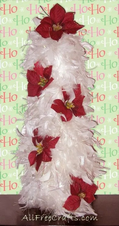 feather boa Christmas tree