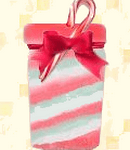 three color candy cane bath salts