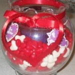Candy Heart Candle
