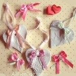 homemade clay hearts