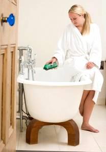 preparing bath