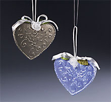 faux tin hearts