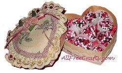 oreo truffles in heart shaped box